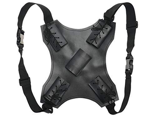 Deadpool Schwerthalter für den Rücken aus PU-Leder