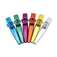 BRZM Fashion Supplies 1PC Random Colors Aluminium Alloy Metal Kazoo (A Good Companion for Guitar, Piano Keyboard) Essential Gift