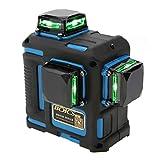 Niveau Laser Vert 3D, Akozon Laser Level Outil de Nivellement de 12 Lignes Croix...