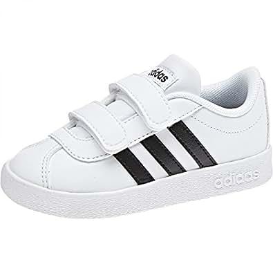 Adidas VL Court 2.0 Cmf I, Scarpe da Fitness Unisex-Bambini, Bianco (Db1839 Blanco), 21 EU