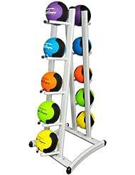 Oval-Line Medizinball 10er Ablage / Rack weiß für bis zu zehn Medizinbälle in Studio-Qualität BCA-85