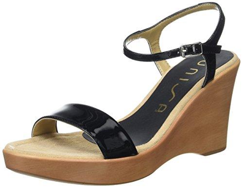 Unisa Damen Rita_17_pa Offene Sandalen mit Keilabsatz Schwarz (Black)