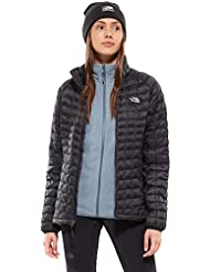 The North Face Sport Jacket Chaqueta Deportiva Thermoball, Mujer, Negro Black/TNF White, S
