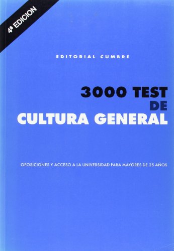 3000 Test De Cultura General (oposiciones Acceso Universidad)