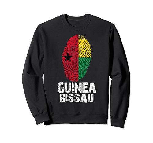 GUINEA BISSAU Finger Print Flag Tshirt I Love Travel Tee  Sweatshirt -