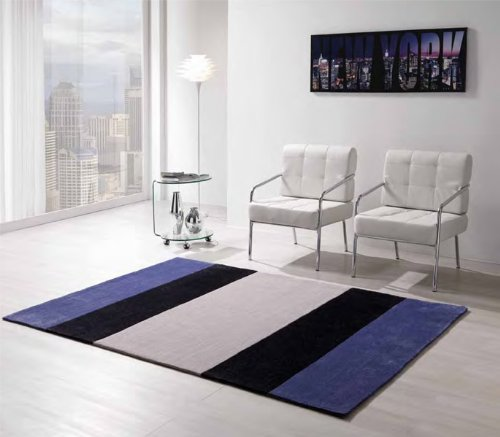 Tomasucci Strips tappeto a righe blu 240cm