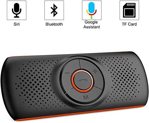NETVIP Manos Libres Coche Bluetooth 4.2 con Siri y Google Assistant Kit de Coche...