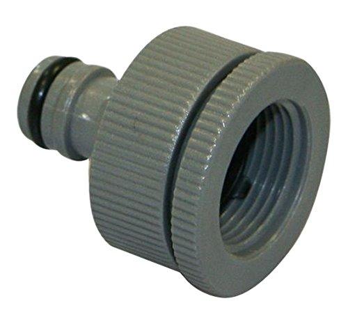 Xclou Nez de robinet en plastique - Raccord pour robinet extérieur 19 x 26 mm - Raccord pour tuyau d'arrosag
