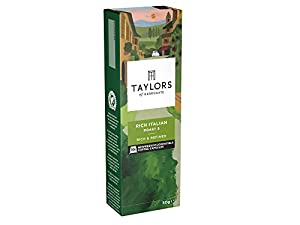 Get Taylors of Harrogate Rich Italian Espresso Coffee Nespresso Compatible Capsules 10 (Pack of 6, Total 60 Capsules) by Bettys & Taylors of Harrogate Limited