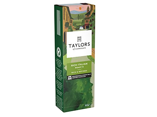 Get Taylors of Harrogate Rich Italian Espresso Coffee Nespresso Compatible Capsules 10 (Pack of 6, Total 60 Capsules) by Bettys & Taylors of Harrogate Limited