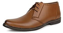 Escaro Mens Tan Formal Lace Up Ankle Shoes (ES1041KB_TAN_9)