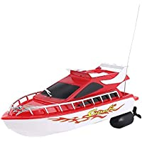 Price comparsion for Ballylelly Racing Boat, C101A Mini Radio Remote Control RC High Speed Racing Boat Speed Ship for Kids Children Gift Present Toy Simulation Model