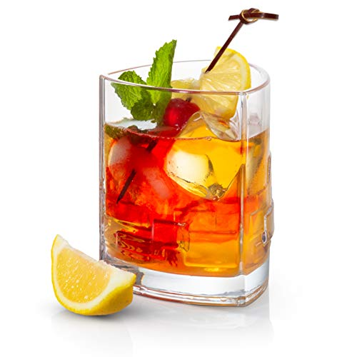 JoyJolt Revere Trinkgläser, altmodische Gläser, 340 ml, Ultra klar, Whisky-Glas für Bourbon und Likör, 2 Stück 1 Double Old Fashioned