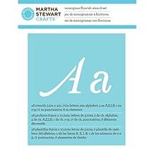 Plaid: Craft Martha Stewart grandes plantillas del alfabeto 48/pkg-monogram diseño de hojas, tamaño de letra 3,17cm
