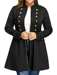 Modaworld_Chaqueta de mujer Chaqueta de Invierno Mujer Capa de Color sólido de Tallas Grandes para Mujer
