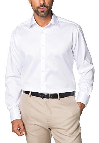 ETERNA Langarm Hemd COMFORT FIT Twill unifarben Weiß