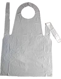 Shropshire Supplies Disposable Polythene Aprons - Pack of 100 White