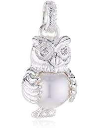Heartbreaker Damen-Anhänger 925 Silber Perle Brillantschliff Zirkonia Weiß - LD OW 31