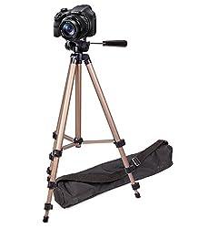 Duragadget Sturdy Professional Lightweight Aluminium Tripod For The Sony Dsc-h300h300 Digital Compact Camera - Black (20.1mp, 35x Optical Zoom) & Sony Nex-5rk