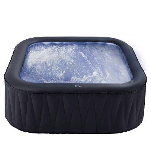 Whirlpool MSpa aufblasbar für 6 Personen SPA 185x185cm In-Outdoor Pool 132 Massagedüsen Timer Heizung Aufblasfunktion per Knopfdruck TÜV geprüft Bubble Spa Wellness Massage - 5