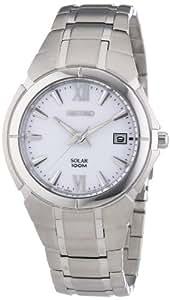 Seiko Herren-Armbanduhr XL Solar Analog Edelstahl SNE085P1