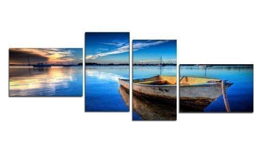 tableaux-muraux-xxl-bleu-marine-55-x-165-cm-4-partie-murale-image-chaque-partie-30-x-50-cm-bateau-de