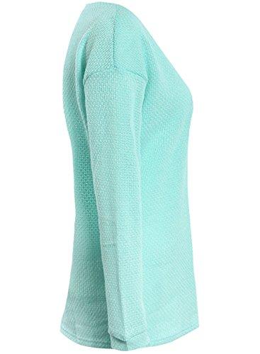 ACHICGIRL Women's V Neck Loose Fit Sweater green