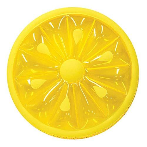 Sarazong Aufblasbar Schwimmbecken,Runder Zitronen-Frucht-Scheiben-Pool-Floss Aufblasbares Schwimmfloß (Aufgeblasener Durchmesser 56