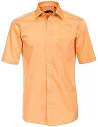 CASAMODA Herren Businesshemd 008060 auch große Größen 100% Baumwolle apricot 41/L