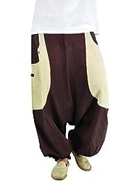 virblatt Hanfhose GOA Hose und Hippie Hose als Hanf Kleidung von virblatt Hanf Haremshose Herren und Damen - Frohnatur