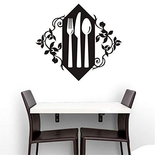 (haotong11 Küche Geschirr Vinyl Wandaufkleber Volksmesser Und Löffel Kunst Tapete Dekor Western Restaurant Coffee Shop57 * 64 cm)