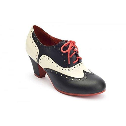 Lola Ramona Elsie Brogue stivali alla caviglia, nero (Black), 40