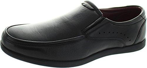 Dr Keller Wesley - Zapatos de Cordones de Piel para Hombre Negro Negro, Color Negro, Talla 40 EU