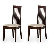 Alkove - Hayes - Set da 2 sedie in legno massello con seduta imbottita, modello Helena, in faggio laccato