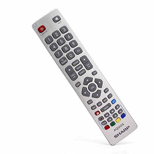 Aquos Lcd (Sharp Aquos SHW/RMC/0112N SHW/RMC/003 echte Fernbedienung für LCD-LED-HD-HD-Fernseher mit YouTube NET + 3D-Tasten - mit Zwei 121AV AAA Batterien enthalten)