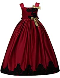 M&A Vestido Largo Verano para Niña de noche Princesa Fiesta para boda Elegante