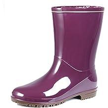 AgeeMi Shoes Mujer Botas Altas Agua Goma Seguridad Antideslizante Unisex Botas