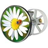 Sanitop-Wingenroth Clapet métallique pour lavabo à réduction excentrée 38 mm Motifs fleur et coccinelle