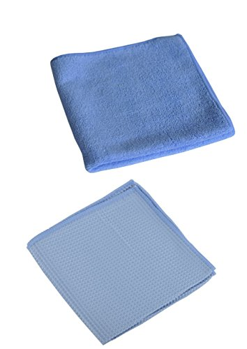Preisvergleich Produktbild 20 Mikrofasertücher (10 Waffeltücher + 10 Poliertücher) Microfiber 40 x40 cm Microfasertücher Küchentuch Autopflege