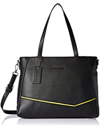 Caprese Milly Women's Satchel (Black and Yellow)