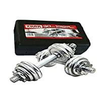 York Dumbbell, 30 KG, Silver