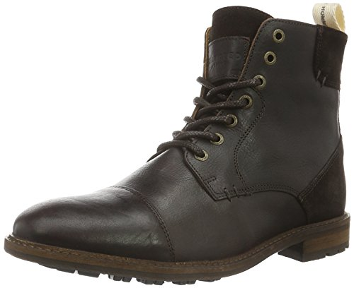 Selected Shntravis Lace Boot, Stivali Corti Uomo, Marrone (Demitasse), 42 eu
