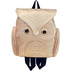 Mochilas Casual de Escolares para Mujeres Chicas y Niñas Gran Capacidad Casual Mochila USA Diario de Piel de la PU Messenger Bag Backpack (Dorado)
