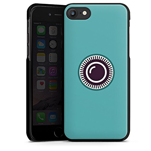 Apple iPhone X Silikon Hülle Case Schutzhülle Kamera Auge Symbol Hard Case schwarz
