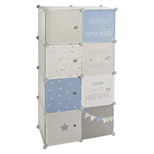 Atmosphera - Armario con Almacenamiento y Armario modulable para habitación Infantil Altura 124 cm...