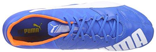 Puma - Evospeed 1.4 Lth Fg, Scarpe Da Calcio da uomo Blu (Blau (electric blue lemonade-white-orange clown fish 02))