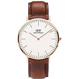 Daniel Wellington – Reloj de Cuarzo para Hombre con Esfera analógica de Color Negro (Talla única, Color Blanco)