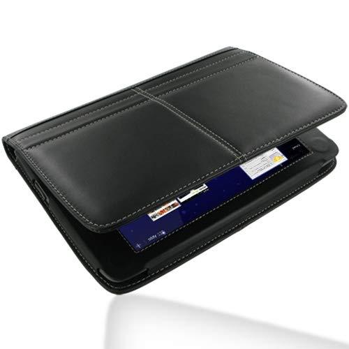 PDair Handarbeit Leder Book Stand Hülle for Archos 80 G9 (Black)