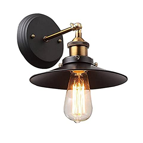 Industrial Edison Simplicity 2 Light Wall Mount Light Sconces Aged Iron Finished , Single Wall lamp