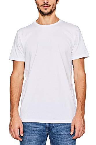 ESPRIT Herren 997EE2K819 T-Shirt, Weiß (White 100), XXL